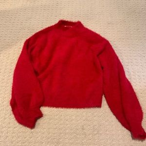 Softest Red Turtleneck Sweater